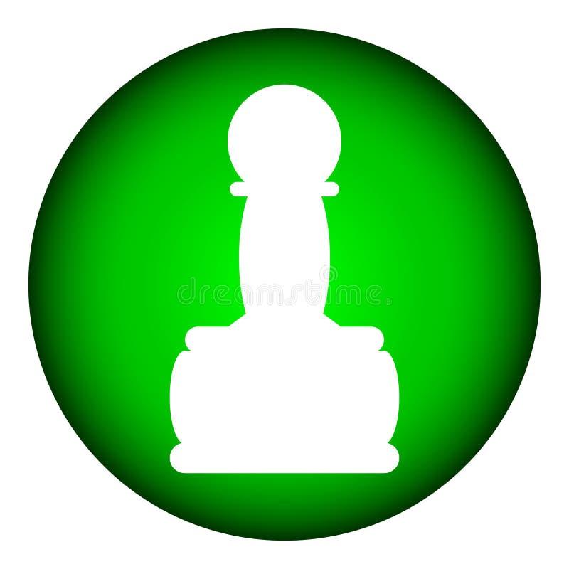 Ícone do PENHOR da xadrez ilustração stock