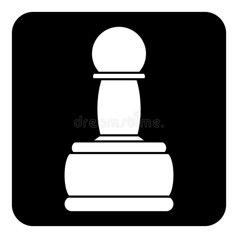 Ícone do PENHOR da xadrez ilustração royalty free