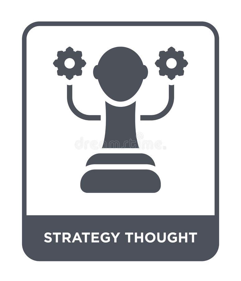 ícone do pensamento da estratégia no estilo na moda do projeto ícone do pensamento da estratégia isolado no fundo branco ícone do ilustração do vetor