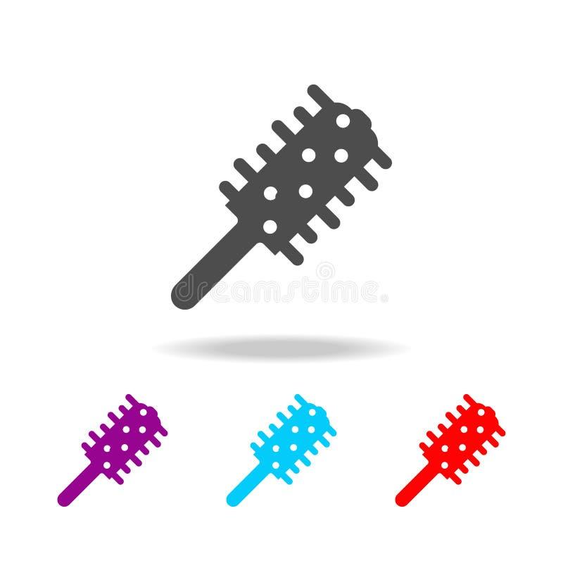 Ícone do pente Elementos do banheiro em multi ícones coloridos Ícone superior do projeto gráfico da qualidade Ícone simples para  ilustração stock