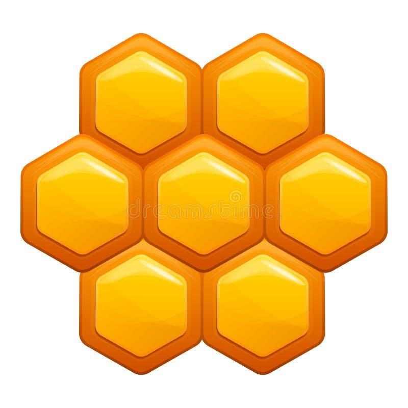 Ícone do pente do mel, estilo dos desenhos animados ilustração royalty free