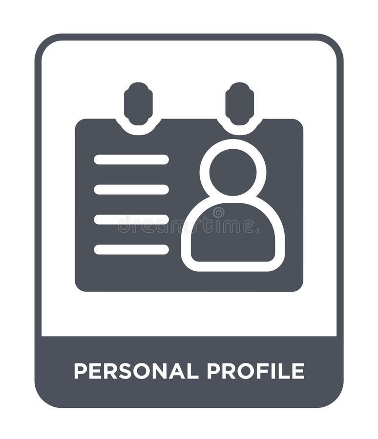 ícone do perfil pessoal no estilo na moda do projeto ícone do perfil pessoal isolado no fundo branco Ícone do vetor do perfil pes ilustração stock