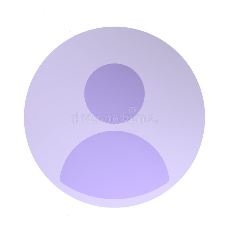 ícone do perfil social ilustração stock