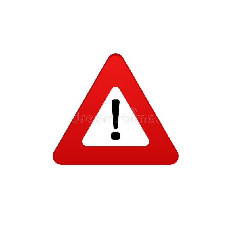 Ícone do perigo Símbolo do vetor do sinal do perigo Pare o sinal ilustração stock