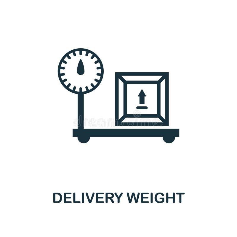 Ícone do peso de entrega Projeto monocromático do estilo da coleção do ícone da entrega da logística Ui Entrega simples perfeita  ilustração do vetor