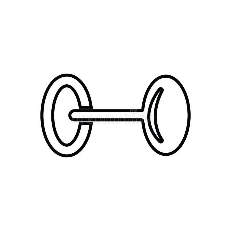 Ícone do peso Elemento do esporte para o conceito e o ícone móveis dos apps da Web Esboço, linha fina ícone para o projeto do Web ilustração stock