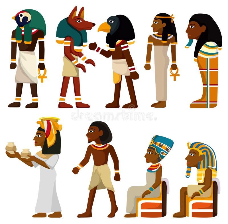 Ícone do pharaoh dos desenhos animados ilustração stock