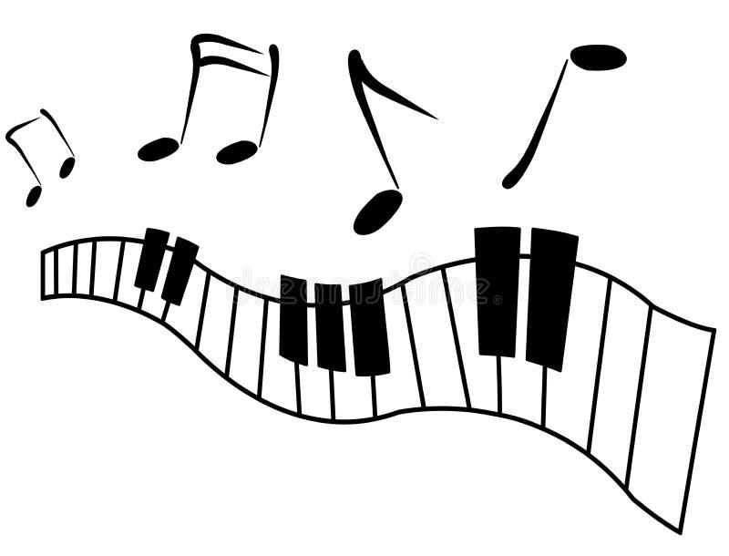 Ícone do piano ilustração royalty free