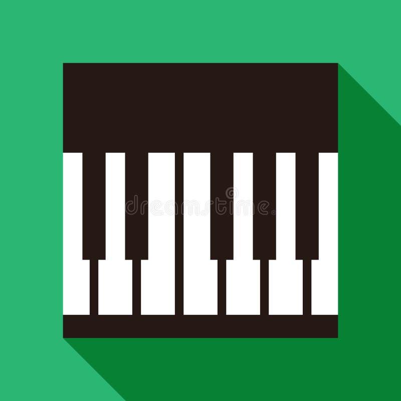 Ícone do piano ilustração stock