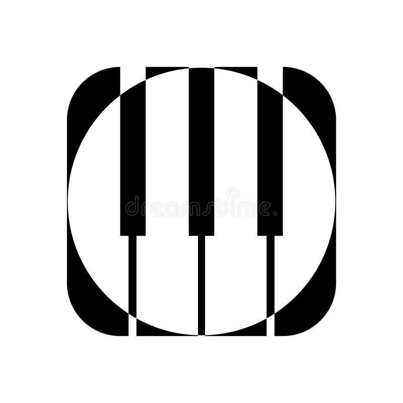 Ícone do piano e chaves da cópia da música moderna do conceito do piano e do cartaz do piano do design web no vetor branco ilustração stock
