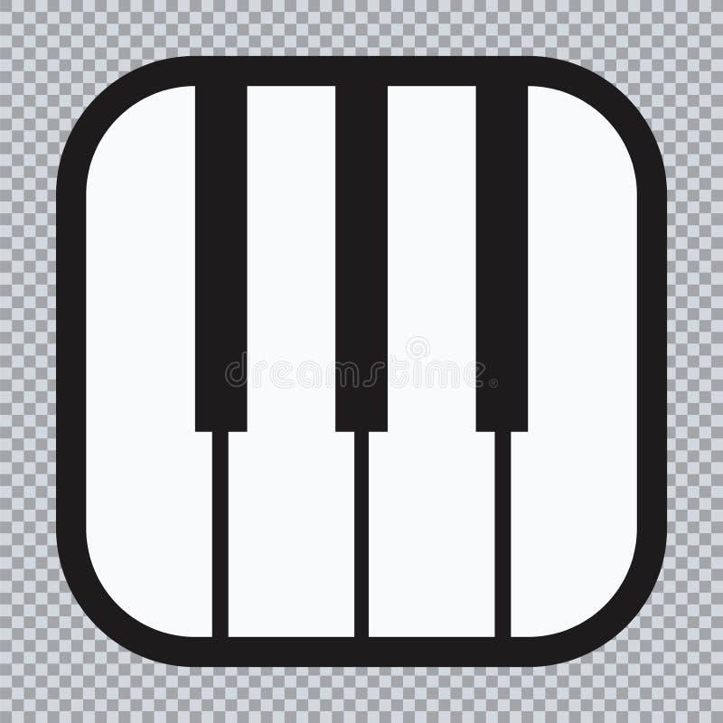 Ícone do piano e chaves da cópia da música moderna do conceito do piano e do cartaz do piano do design web no vetor branco ilustração royalty free