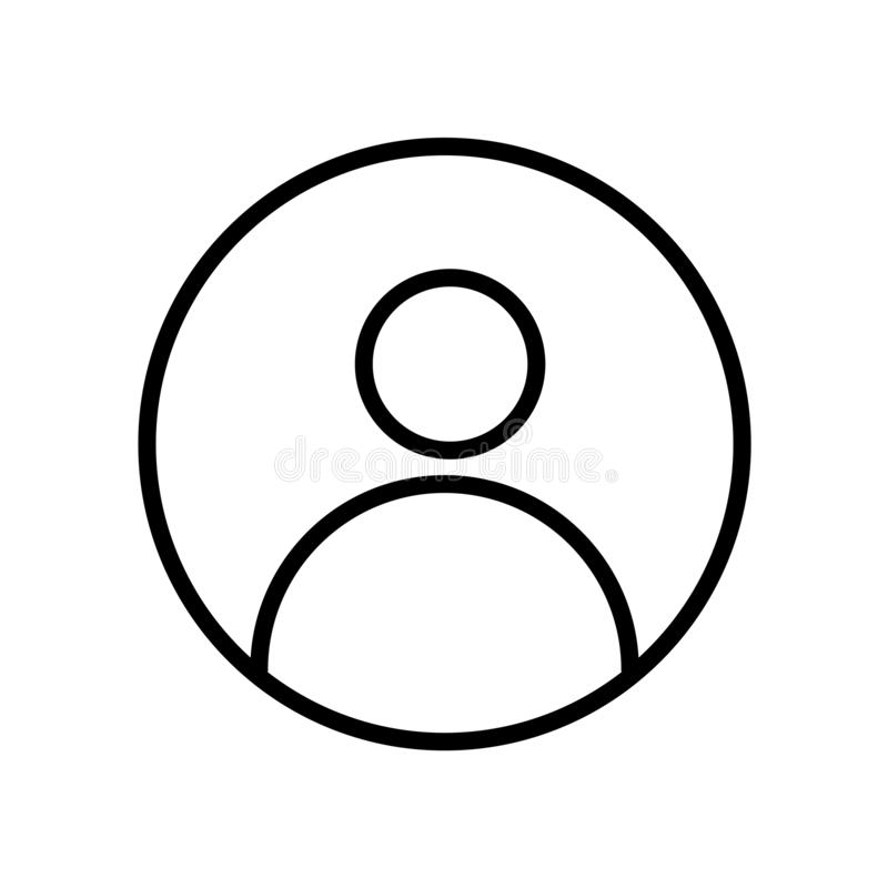 ícone do PIC do perfil isolado no fundo branco ilustração do vetor