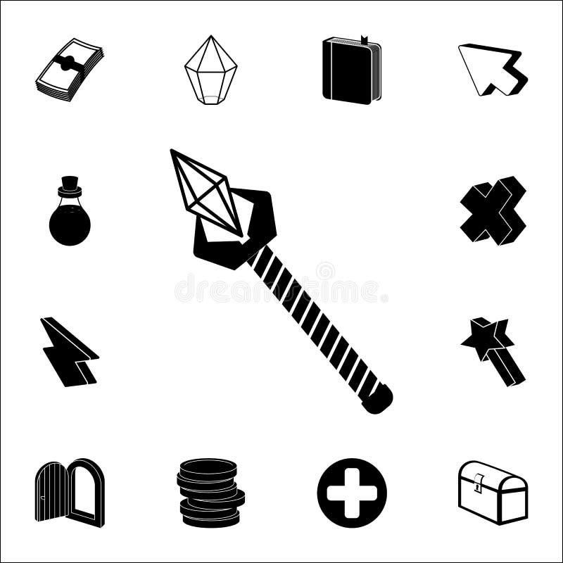 ícone do pikestaffe Grupo universal dos ícones do jogo para a Web e o móbil ilustração do vetor