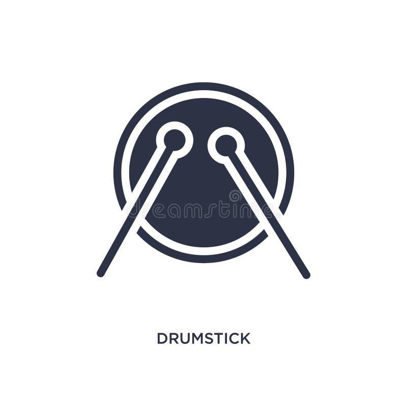 ícone do pilão no fundo branco Ilustração simples do elemento do conceito da música ilustração stock