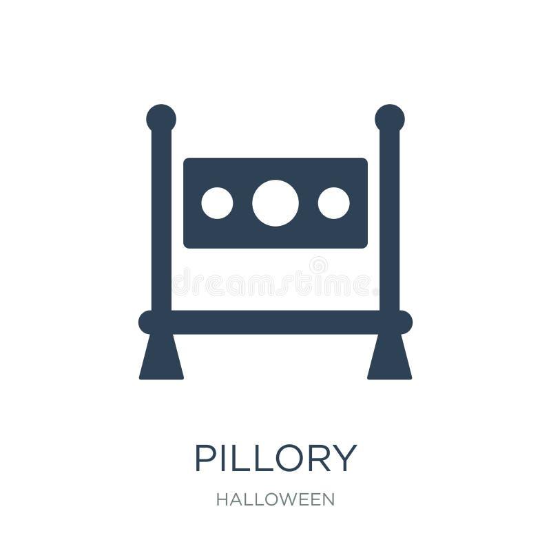 ícone do pillory no estilo na moda do projeto ícone do pillory isolado no fundo branco símbolo liso simples e moderno do ícone do ilustração do vetor