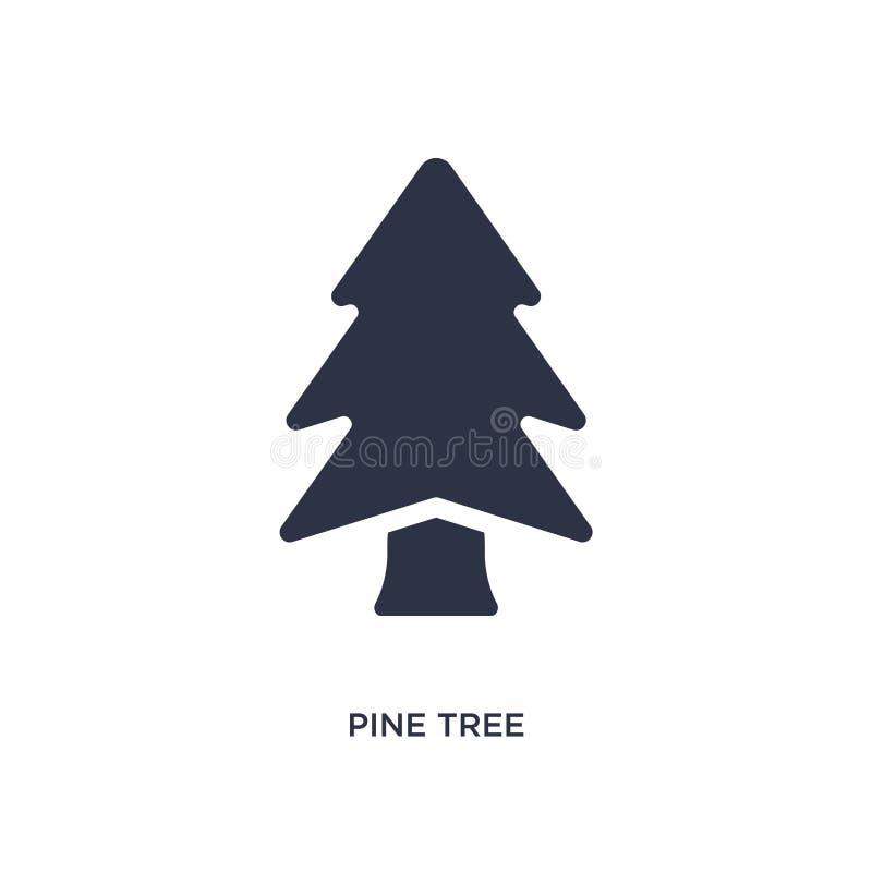 ícone do pinheiro no fundo branco Ilustração simples do elemento do conceito da natureza ilustração royalty free