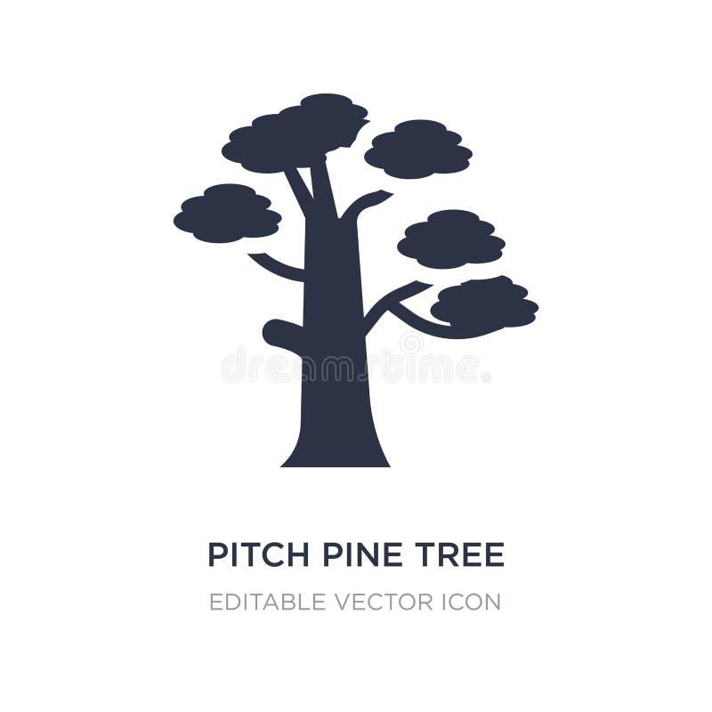 ícone do pinheiro do passo no fundo branco Ilustração simples do elemento do conceito da natureza ilustração do vetor