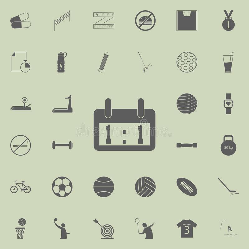 ícone do placar do placar Grupo detalhado de ícones do esporte Sinal superior do projeto gráfico da qualidade Um dos ícones da co ilustração stock