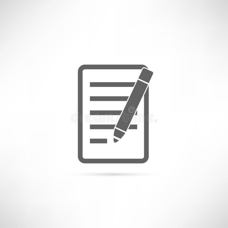 Ícone do planeamento ilustração stock