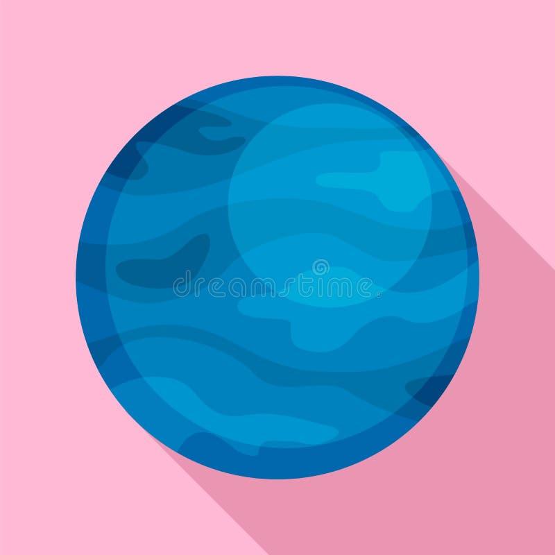 Ícone do planeta de Netuno, estilo liso ilustração royalty free