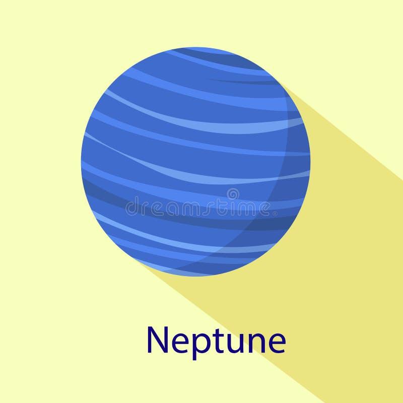 Ícone do planeta de Netuno, estilo liso ilustração do vetor