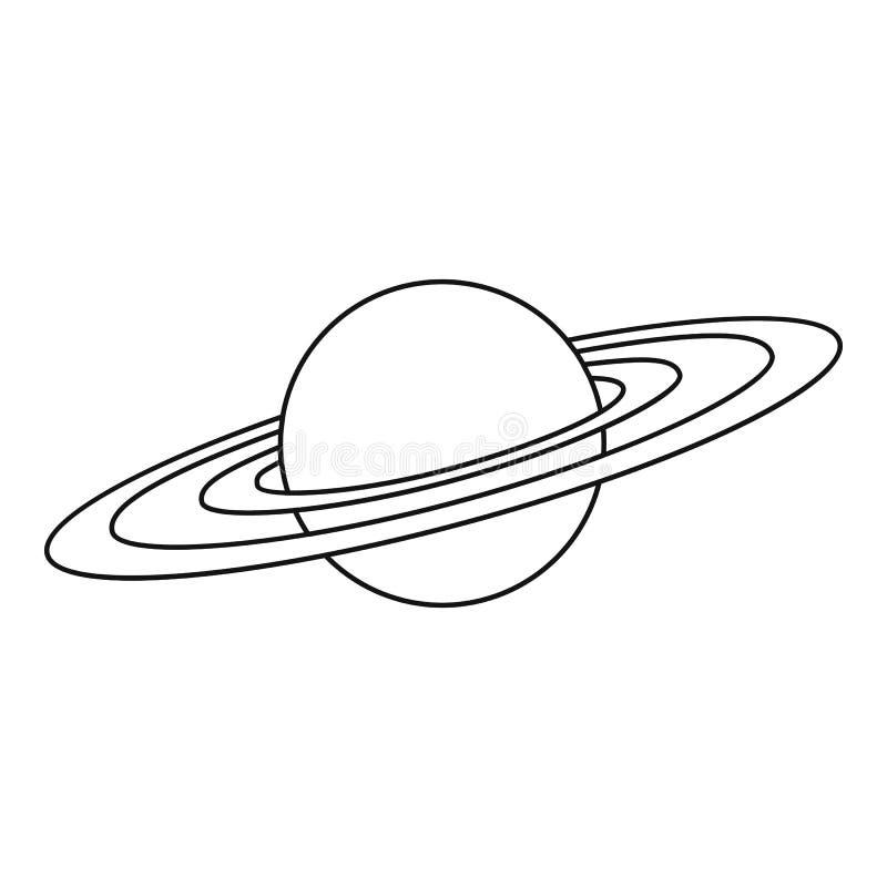 Ícone do planeta de Saturn, estilo do esboço ilustração do vetor