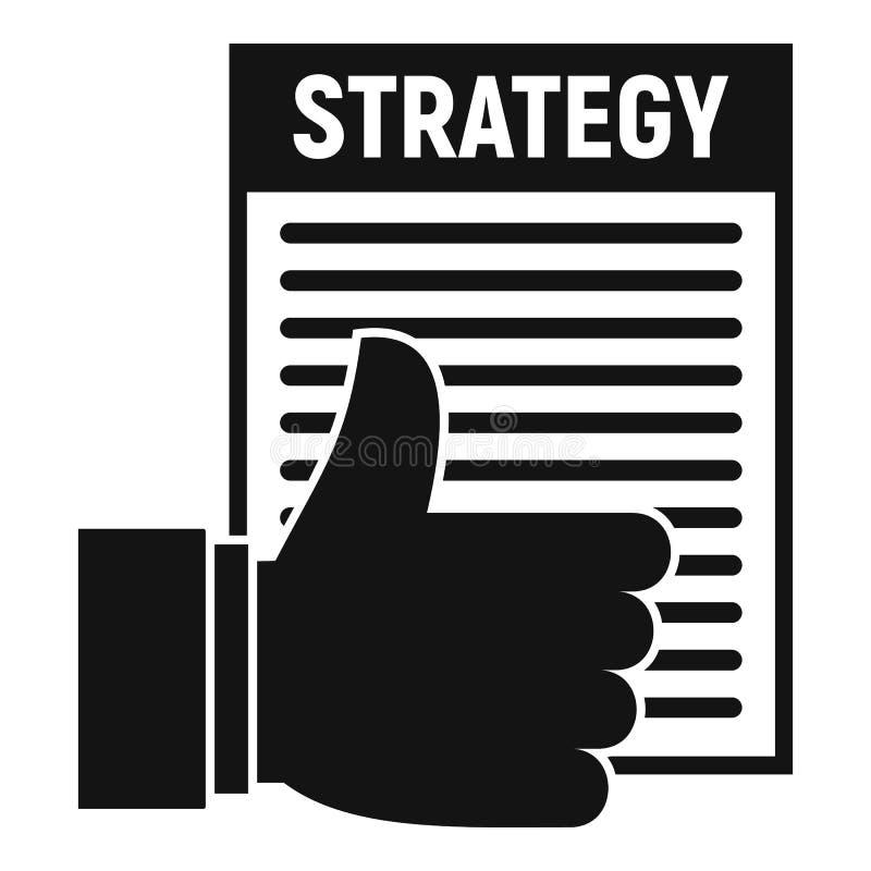 Ícone do plano da estratégia, estilo simples ilustração do vetor