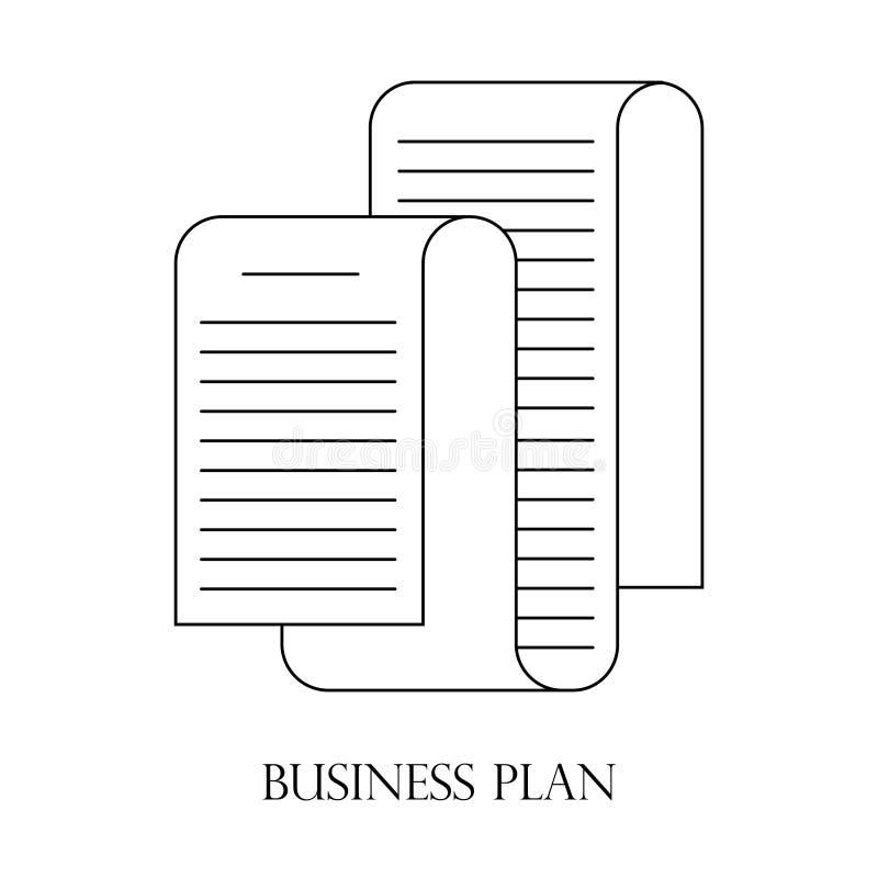 Ícone do plano de negócios ou linha estilo do logotipo da arte ilustração stock