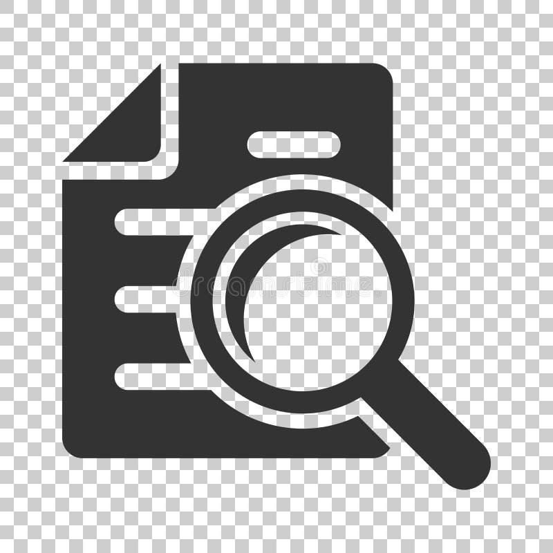 Ícone do plano do original do exame minucioso no estilo liso Vect da indicação da revisão ilustração royalty free