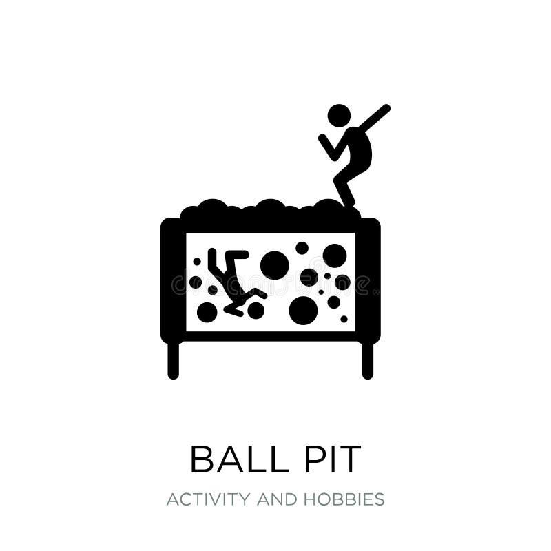 ícone do poço da bola no estilo na moda do projeto ícone do poço da bola isolado no fundo branco plano simples e moderno do ícone ilustração stock