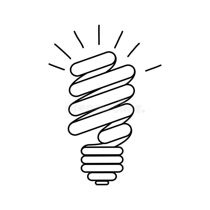 ícone do poder do bulbo das economias da energia ilustração do vetor