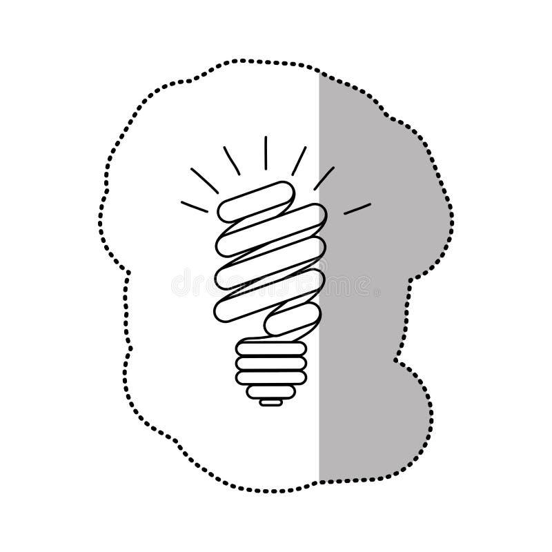 ícone do poder do bulbo das economias da energia ilustração royalty free