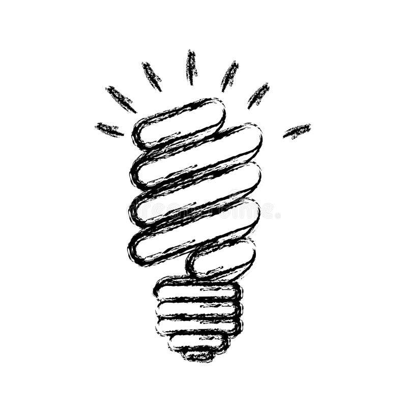 ícone do poder do bulbo das economias da energia ilustração stock