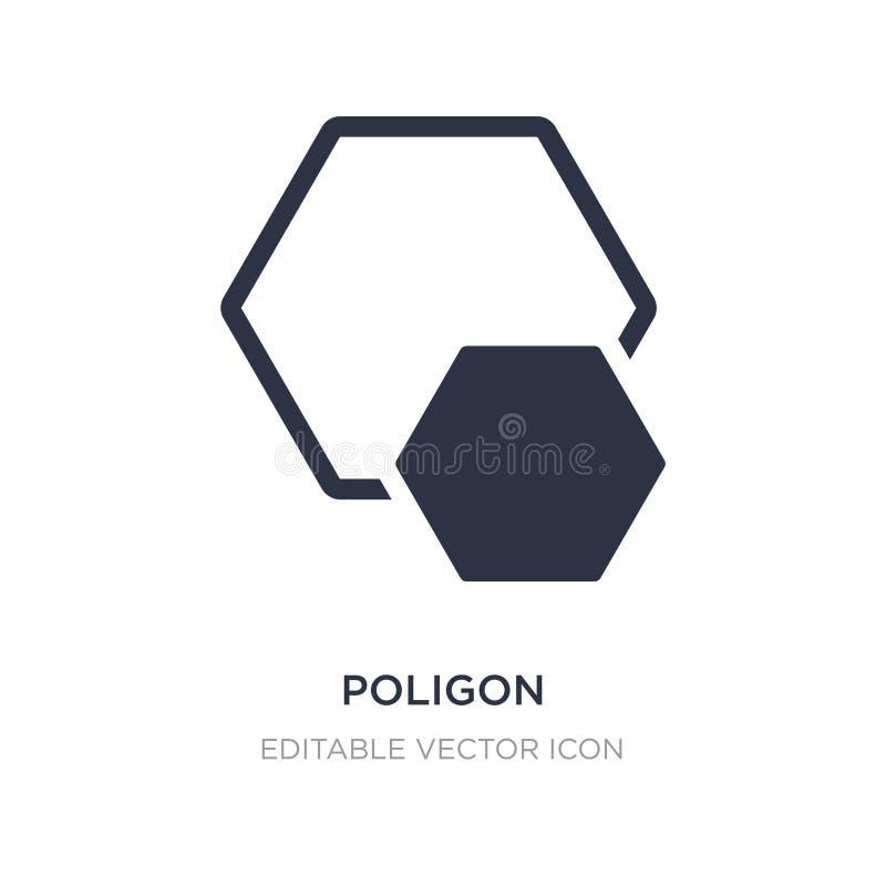 ícone do poligon no fundo branco Ilustração simples do elemento do conceito das formas ilustração do vetor