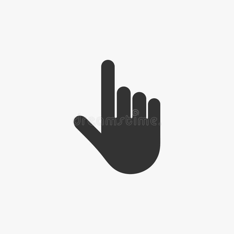Ícone do ponteiro, guia, índice, mão, clique ilustração do vetor