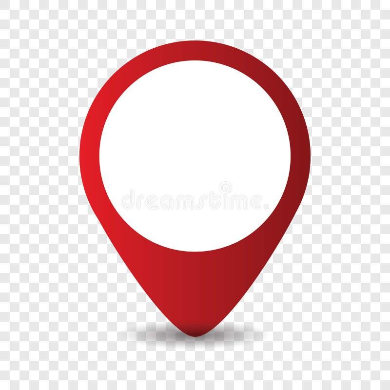 ?cone do ponteiro do lugar do mapa ilustração stock