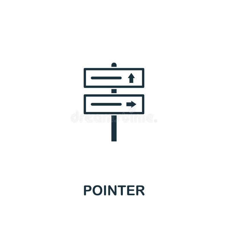 Ícone do ponteiro Projeto criativo do elemento da coleção dos ícones do turismo Ícone perfeito para o design web, apps do ponteir ilustração stock