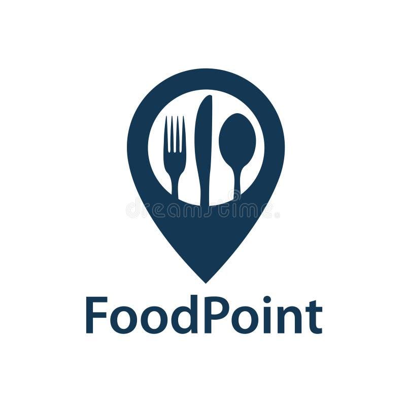 Ícone do ponto do alimento ilustração do vetor