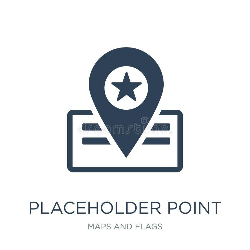 ícone do ponto do placeholder no estilo na moda do projeto ícone do ponto do placeholder isolado no fundo branco ícone do vetor d ilustração do vetor