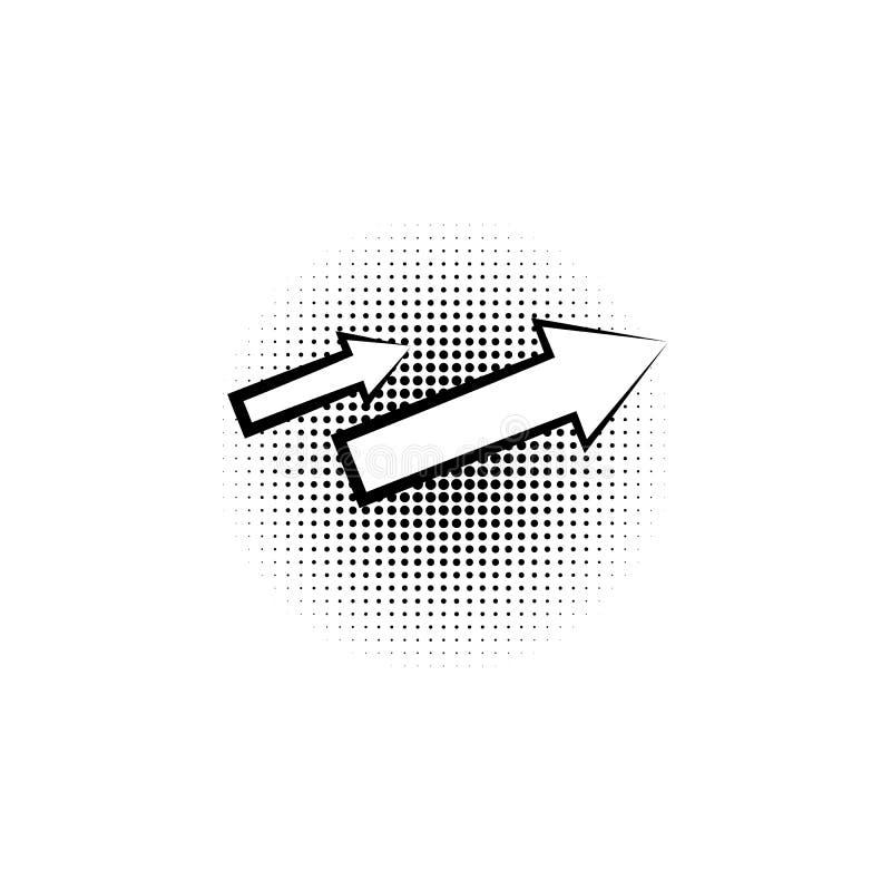 ícone do pop art da seta ilustração royalty free