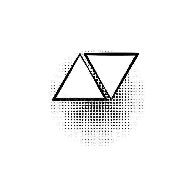 ícone do pop art da seta ilustração stock