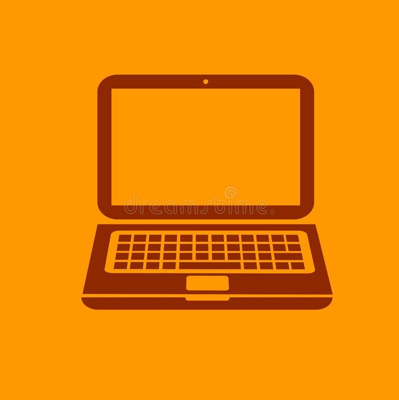 Ícone do portátil ilustração do vetor