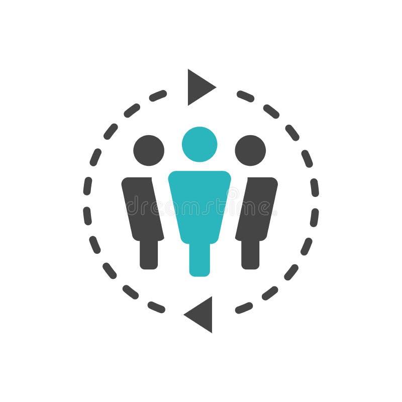 Ícone do porta-voz - pessoa em redes de uma posição do mercado & em co ilustração do vetor