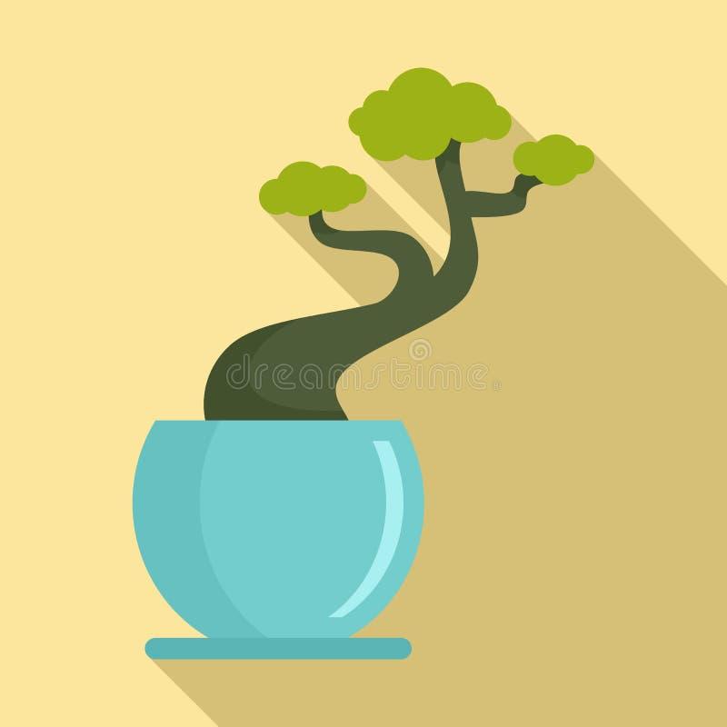 Ícone do potenciômetro da árvore da casa, estilo liso ilustração royalty free