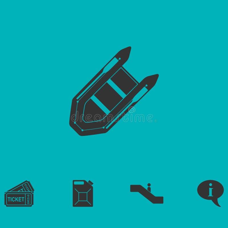 Ícone do Powerboat liso ilustração stock