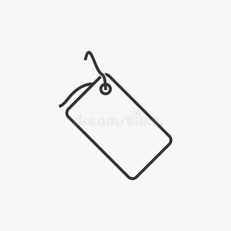 Ícone do preço, preço, etiqueta, venda ilustração do vetor