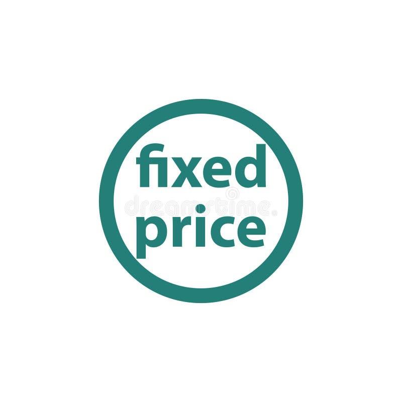 Ícone do preço fixo ilustração stock