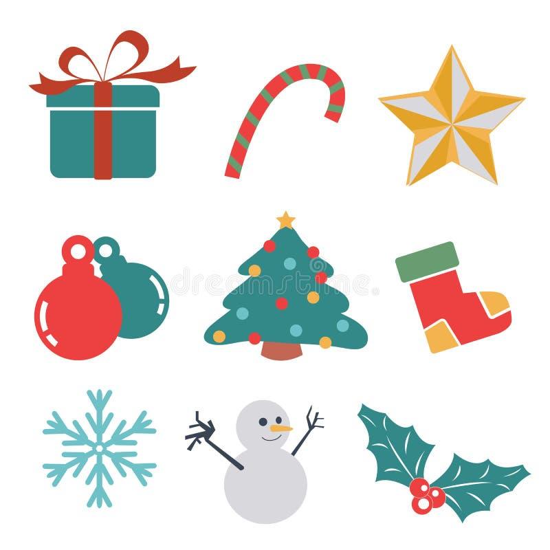 Ícone do presente do Natal ilustração royalty free