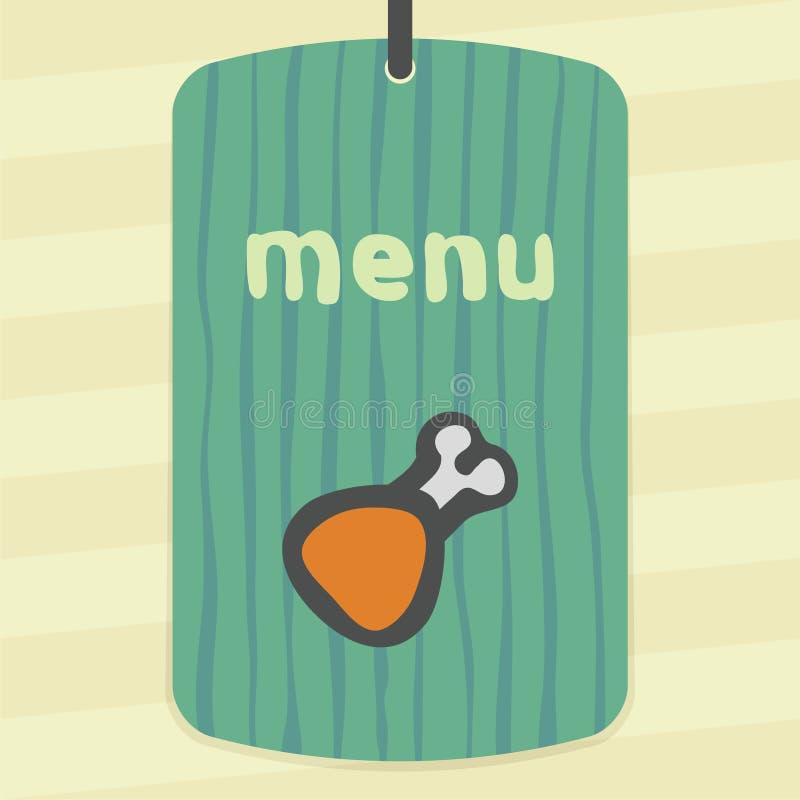 Ícone do presunto da galinha da carne do esboço do vetor Logotipo infographic moderno e pictograma ilustração do vetor