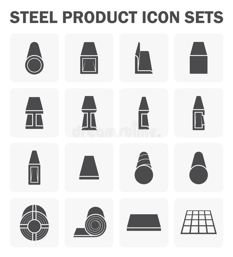 Ícone do produto de aço ilustração stock